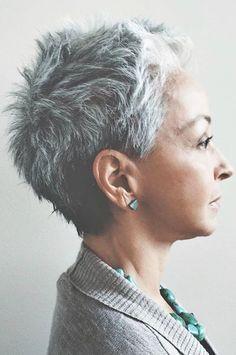Fans grauer Haare aufgepasst! Diese 11 Kurzhaarfrisuren solltet ihr Euch unbedingt anschauen! - Seite 10 von 11 - Neue Frisur