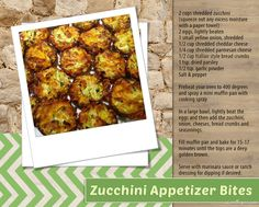 zucchini appetizer bites baking recipe recipes ingredients instructions easy recipes appetizers snacks