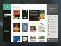 Bookshelf e-books UI