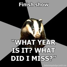 Backstage Badger finish show, what year is it? What did I miss? So tru!