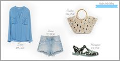 Look con cangrejeras de goma. Jelly shoes outfit.  Jelly sandals.