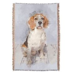 Cute Beagle Watercolor Portrait Throw  $84.90  by ChunkyPaints  - cyo customize personalize unique diy