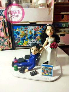 We accept made to order souvenirs, cake toppers and. Wedding Cake Toppers, Wedding Cakes, Polymer Clay Cake, Order Cake, Elegant Cakes, Bride Groom, Anniversary, Inspired, Handmade