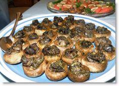 Escargot-Stuffed Mushrooms