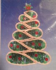 Christmas Tree Suncatcher Plastic Canvas/Craft Kit By Mary Maxim NIP