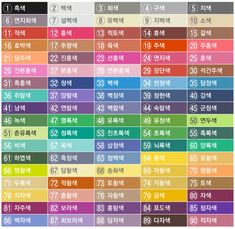 Korean Language, Vintage Coffee, Art Tips, Color Names, In My Feelings, Drawing Reference, Pantone, Light Colors, Periodic Table