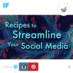 Have you discovered #IFTTT ? It's a great way to streamline your social media. While I really enjoy spending time on #Instagram and #Pinterest it is #LinkedIn and blogging that gives me my biggest ROI in terms of #B2B conversion. The IFTTT recipes allow you to post your blogs & posts to other platforms.