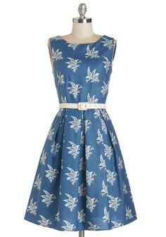 Early 1960s style plus size dress- Soaring Through the Day Dress