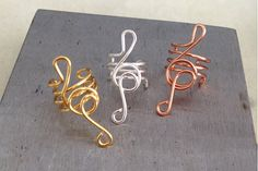 NEW/ Sterling Silver Treble Clef Ear Cuff/ by TheLazyLeopard, $15.00