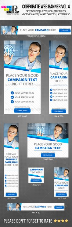 Corporate Web Banner Template PSD | Buy and Download: http://graphicriver.net/item/corporate-web-banner-vol-4/6044345?WT.ac=category_thumb&WT.z_author=letsjustdesign&ref=ksioks