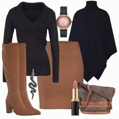 Business-outfits melrose wickelpullover bei Business Casual Outfits For Women, Business Outfits, Mode Inspiration, Everyday Look, Fashion Outfits, Fashion Sets, Clothes For Women, Work Clothes, Fashion Jewelry