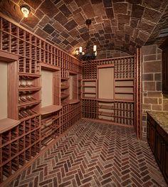 The most elaborate walk in wine cellar! Wine Vault, Home Wine Cellars, Wine Cellar Design, Home Bar Designs, Root Cellar, Tasting Room, Wine Tasting, In Vino Veritas, Wine Storage