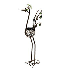 """Loving this 48"""" Bronze Solar Filigree Bird Statue"""
