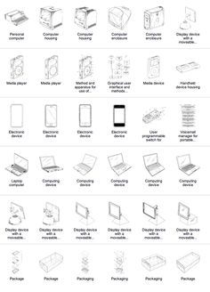 Some of the over 300 patents that list Steve Jobs among the group of inventors