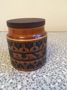 A personal favorite from my Etsy shop https://www.etsy.com/uk/listing/490987221/hornsea-ceramic-bay-leaves-jar-with-lid