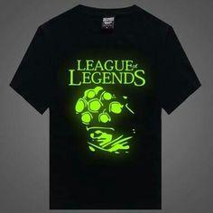 Camiseta Preta Escrita em Neon League Of Legends Clothing Items 36d637748c7