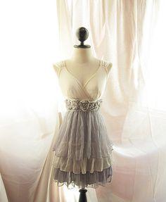 Alice in Wonderland Dreamy Misty Earl Gray Grecian Angel Goddess Nostalgia Dusty Soft Heavenly Marie Antoinette Shakespeare Dress
