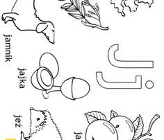 Alfabet - litera J - kolorowanki, malowanki dla dzieci do druku