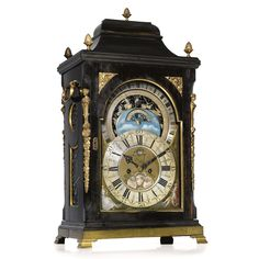 Sold for 94,350 Euro @ Sotheby's A rare Dutch ebony brass mounted astronomical table clock, Otto van Meurs Amsteldam third quarter 18th Century