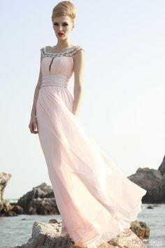 WOW!!! Elegant A-Line Off-the-Shoulder Floor-Length Empire Waistline Formal Dress #prom #formal #event #wedding