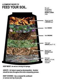 HOW TO USE YOUR COMPOST:- Use instead of potting mix for planting seedlings.- Encourage healthy plant growth by digging in a layer of compost around the drop line in trees.- Compost can be applied twice a year to natives and as a top dressing for lawns. Garden Compost, Garden Soil, Garden Landscaping, Compost Tea, Compost Bucket, Landscaping Borders, Garden Oasis, Balcony Garden, Garden Planters