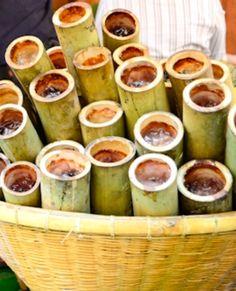 Khao Lam: Bamboo Tubes of Sweet Custardy Sticky Rice) ข้าวหลาม