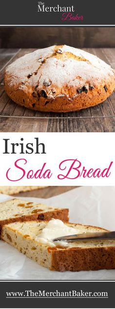 A lightly sweet, tender version that uses sour cream to add moisture and some richness. Delicious toasted with butter! Not just for St.you'll make this easy bread year 'round! Scottish Recipes, Irish Recipes, Pan Focaccia, Bread Recipes, Cooking Recipes, Muffins, St Patricks Day Food, Baking Soda Uses, Pizza