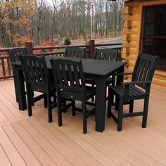 Amazonia Kentucky 7 Piece Eucalyptus Rectangular Patio Dining Set