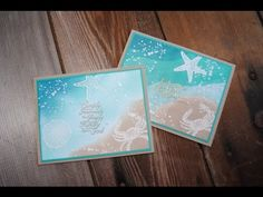 Emboss Resist two ways using Stampin' Up By the Seashore Stamps - YouTube