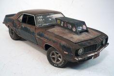 1969 Chevy Camaro Z/28 Custom Weathered Barn Find Drag Car Rat Rod 1/24 M2 #M2MachinesCastline #1969ChevroletCamaroZ28