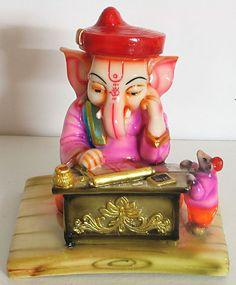 Ganesha as Maharashtrian Munimji - Resin Statues (Poly Resin) Ganesh Lord, Shri Ganesh, Ganesha Art, Lord Shiva, Ganesha Tattoo, Ganesh Images, Ganesha Pictures, Lord Ganesha Paintings, Krishna Painting