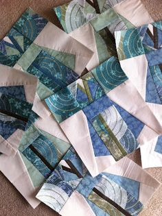 A Quilter by Night: Kimono Friendship quilt blocks