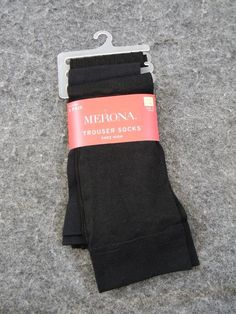 3 Pairs Merona Trouser Socks Black Shoe Size 4-10 Variety NEW #Merona #Trouser