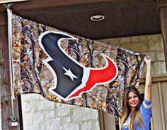 A Houston Texans Camo Flag