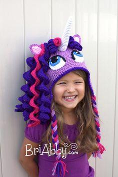 Crochet Unicorn / Pony Hat with Earflaps by BriAbbyHMA on Etsy, $50.00
