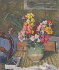 Albert ANDRE, (Lyon, 1869 - Bagnols-sur-Cèze, 1953), Intérieur aux fleurs, 1890-1925, Inv. 67 39 8. Non exposée. © Musée des Augustins, Toulouse, photographie Bernard DELORME