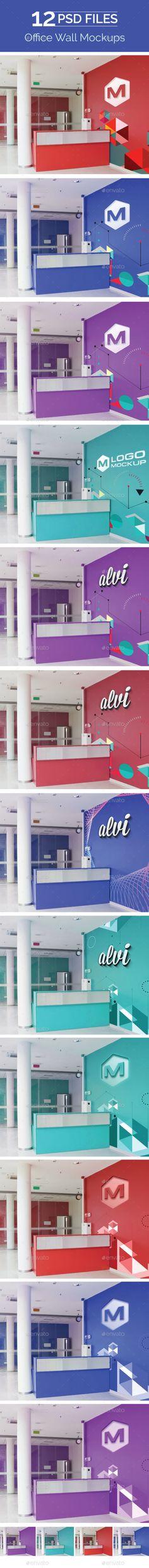 Office Wall Mock Up - Logo Product #Mock-Ups