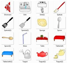 1000 images about kitchen on pinterest picture places for Kitchen set name in english