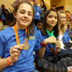 Fencers Kayla and Isabelle taking a few medals at the Cumberland County Science Olympiad!