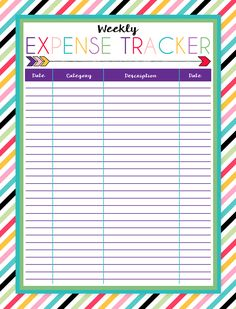 Free Printable Expense Trackers   A series of over 30 free organizational printables from ishouldbemoppingthefloor.com   Daily & Weekly Available   Three Designs Each    Instant Downloads