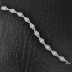 Halo Link Diamond Bracelet | Perry's Fine Antique & Estate Jewelry