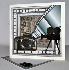 Photography 8x8 Mini Kit by Kristina Norbat: Printed on good quality photo paper cut out and layered onto a blank card I then added a old…