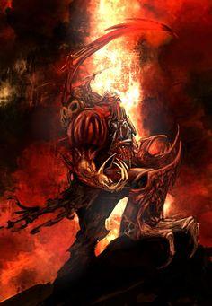 Possessed Marine / Beasts of Annihilation Warhammer 40k Art, Warhammer Fantasy, Warhammer Models, Chaos Lord, The Horus Heresy, The Grim, Oui Oui, Dark Ages, Space Marine
