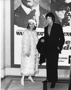 "Faye Dunaway and Warren Beatty, at the Campus Theater premiere of ""Bonnie and Clyde"" (1967) in Denton TX."