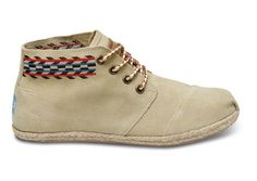I might be able to get into tom's with these desert boots.  with shorts or a skirt.