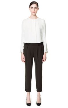 Image 1 of CUFFED TROUSERS from Zara
