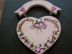 Wooden heart grapevine wreath.  (By Susan Earl)