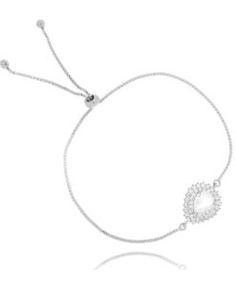 pulseira de luxo com gotinha cristal semi joias finas