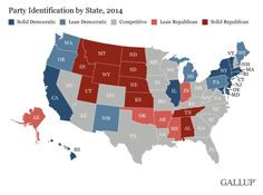 Map: The most Democratic and Republican states - The Washington Post