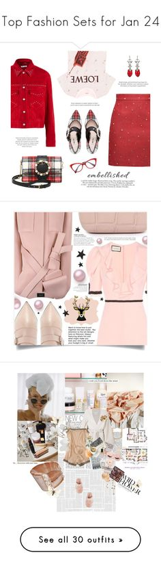 """""""Top Fashion Sets for Jan 24"""" by anchy03 ❤ liked on Polyvore featuring Miu Miu, Loewe, Victoria Beckham, Alice Archer, Gucci, Elora, Alexander McQueen, Pier 1 Imports, Le Kasha and STELLA McCARTNEY"""